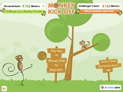 Monkey kick off